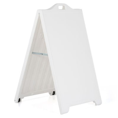 24w x 36h SignPro A Board Sidewalk Sign - White (1)