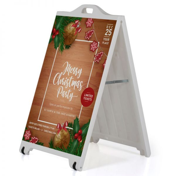 24w x 36h SignPro A Board Sidewalk Sign - White
