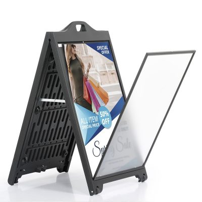 24w x 36h SignPro Sidewalk Sign - Black With Lens (1)