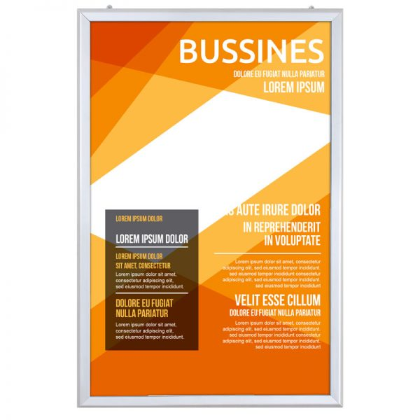 24x36 Portable Snap Poster Frame - 1,25 inch Silver Mitred Profile