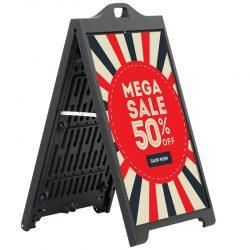 24x36 SignPro A Board Sidewalk Sign - Black