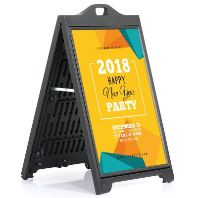 24x36 SignPro Sidewalk Sign - Black Without lens