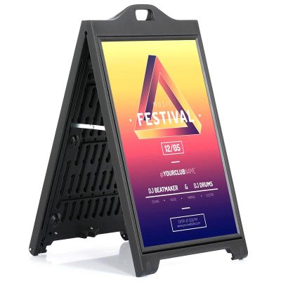 24x36 SignPro Sidewalk Sign - Black with lens