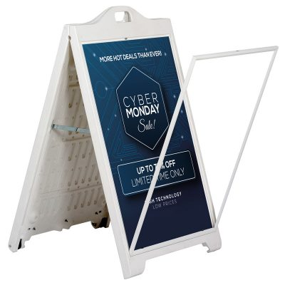 24x36 SignPro Sidewalk Sign - White Without lens