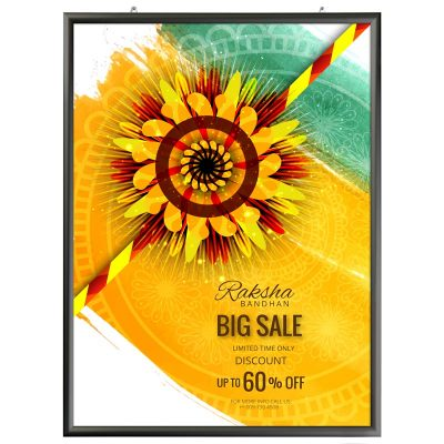 30x40 Portable Snap Poster Frame - 1 inch Black Mitred Profile
