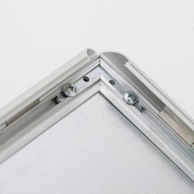 Fire Resistant Snap Poster Frame 1 inch Silver Mitered Corner (2)