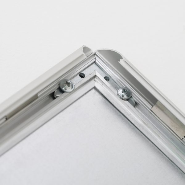 Fire Resistant Snap Poster Frame 1 inch Silver Mitered Corner (2)