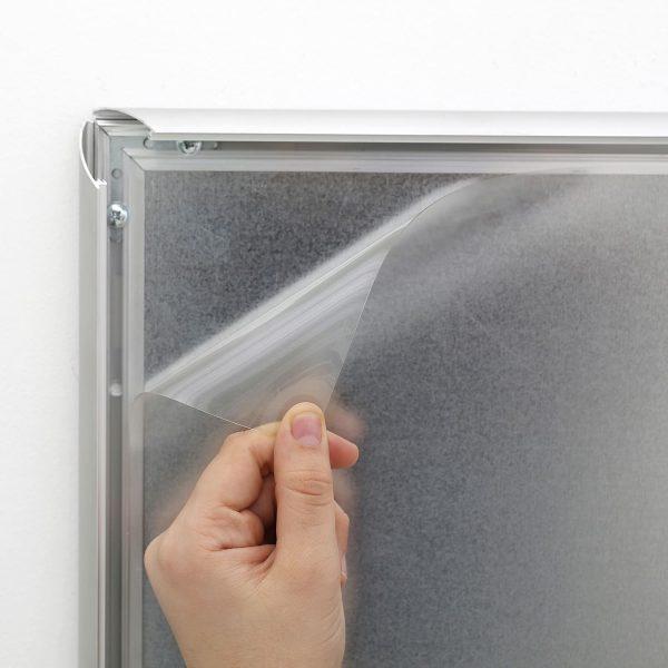 Fire Resistant Snap Poster Frame 1 inch Silver Mitered Corner (5)