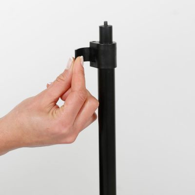 Floor-Sign-Stand-Holder-With-Telescoping-Pole-Black-Double-Sided-Slide-In-Frame-8.5x11-16