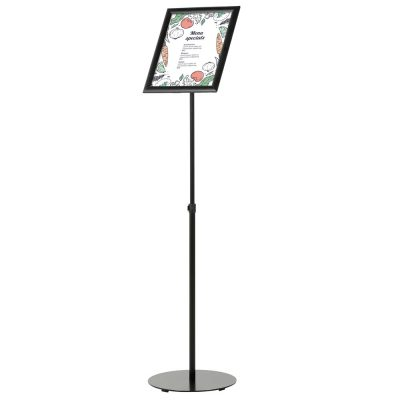 Floor-Sign-Stand-Holder-With-Telescoping-Pole-Black-Snap-Frame-11x17-01