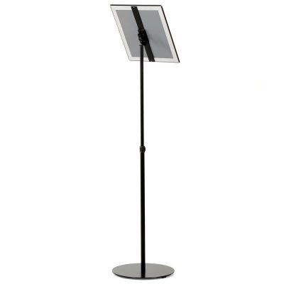Floor-Sign-Stand-Holder-With-Telescoping-Pole-Black-Snap-Frame-11x17-10