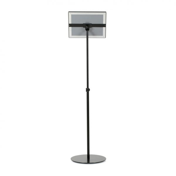 Floor-Sign-Stand-Holder-With-Telescoping-Pole-Black-Snap-Frame-11x17-11