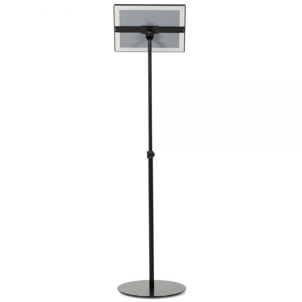 Floor-Sign-Stand-Holder-With-Telescoping-Pole-Black-Snap-Frame-8.5x11-10