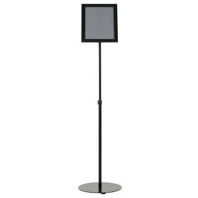 Floor-Sign-Stand-Holder-With-Telescoping-Pole-Black-Snap-Frame-8.5x11-16