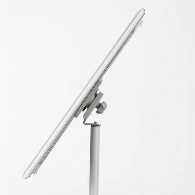 Floor-Sign-Stand-Holder-With-Telescoping-Pole-Silver-Snap-Frame-8.5x11