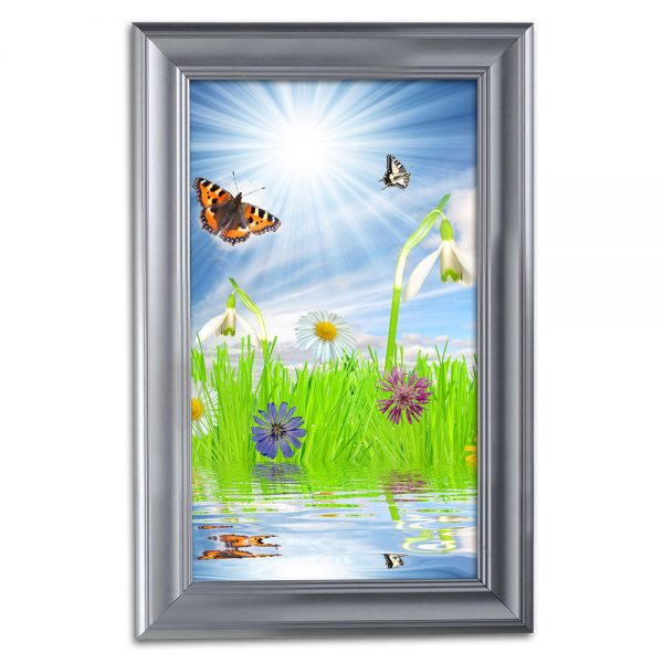 11x17 Fancy Snap Poster Frame - 1.58 inch Silver Color Mitered Profile