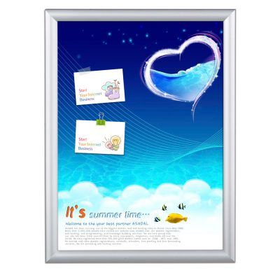 18x24 Window Frame - 1 inch Silver Color Mitered Profile