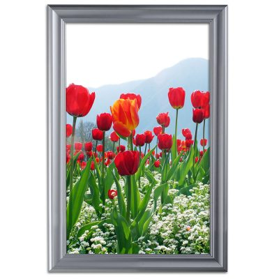 Fancy Frame 20 X 30 Poster Size 1.58 Silver Color Profile, Mitered Corner