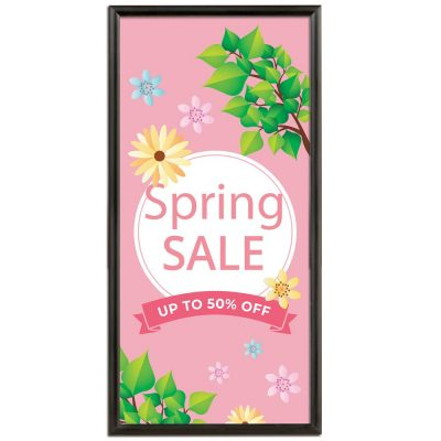 18x36 Snap Poster Frame - 1 inch BlackMitered Profile