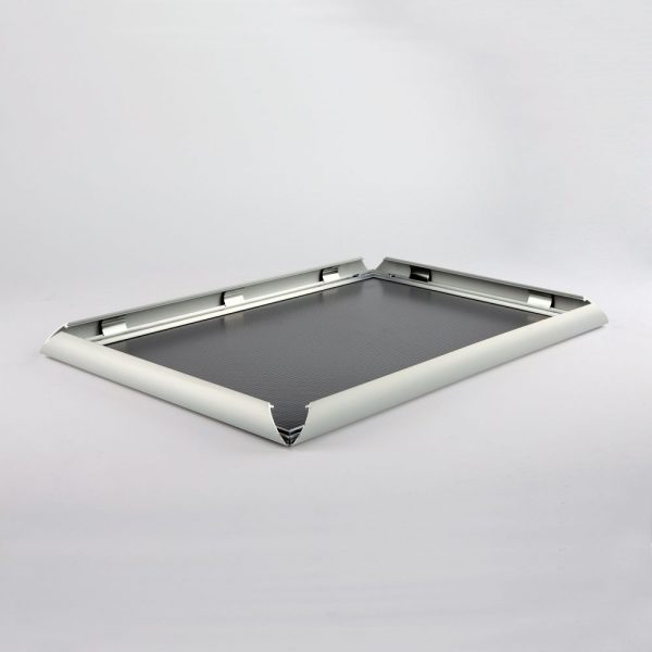 18x36 Snap Poster Frame - 1 inch Silver Mitered Profile-1