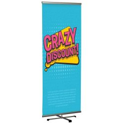 Cross Single banner adjustable height banner 31.5