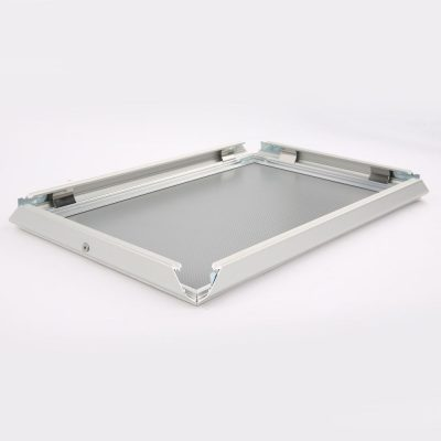 Lockable Snap Frame 11 X 17 Poster Size 1.25 Silver Color Profile, Mitered Corner