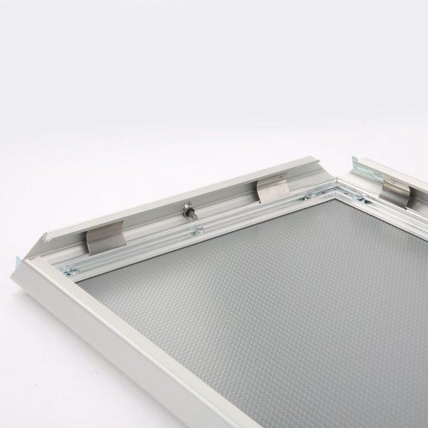 Lockable Snap Frame 11 X 17 Poster Size 1.25 Silver Color Profile, Mitered Corner-2