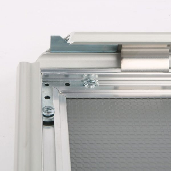 Lockable Snap Frame 11 X 17 Poster Size 1.25 Silver Color Profile, Mitered Corner-3