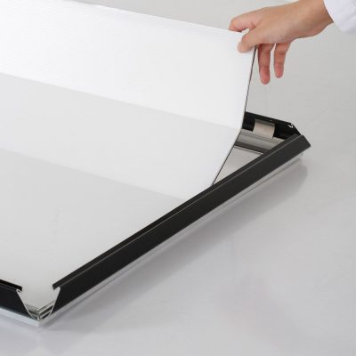 Portable 1.25 Snap Frame, mitred, 27x40, black, white backing, clear cover-13