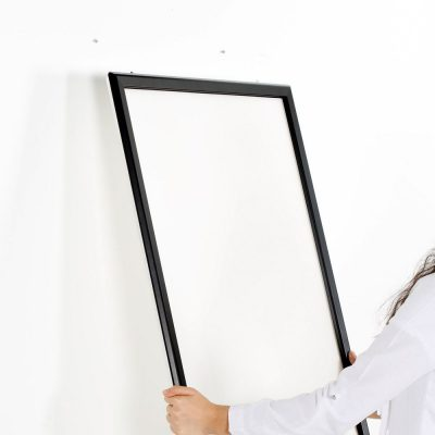 Portable 1.25 Snap Frame, mitred, 27x40, black, white backing, clear cover-25