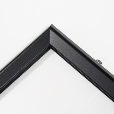 Portable 1.25 Snap Frame, mitred, 27x40, black, white backing, clear cover-26