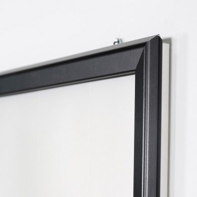 Portable 1.25 Snap Frame, mitred, 27x40, black, white backing, clear cover-28