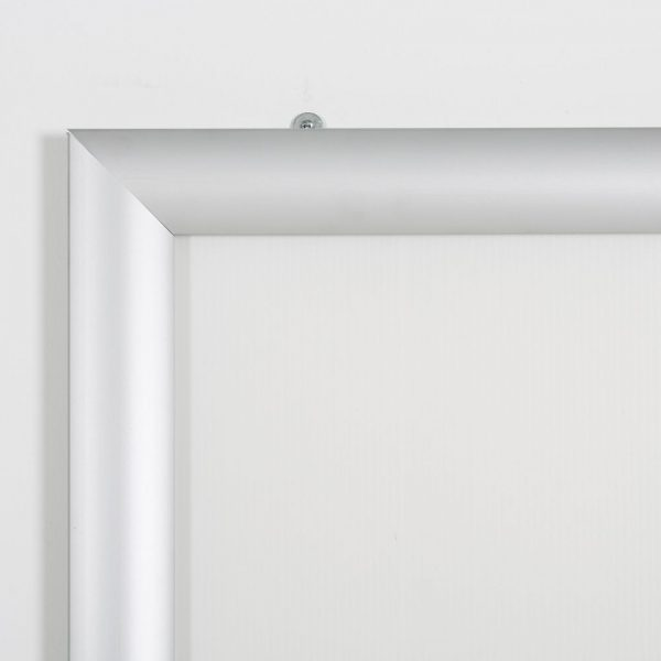 Portable 1.77 Snap Frame, mitred, 27x40, silver, white backing, clear cover-18