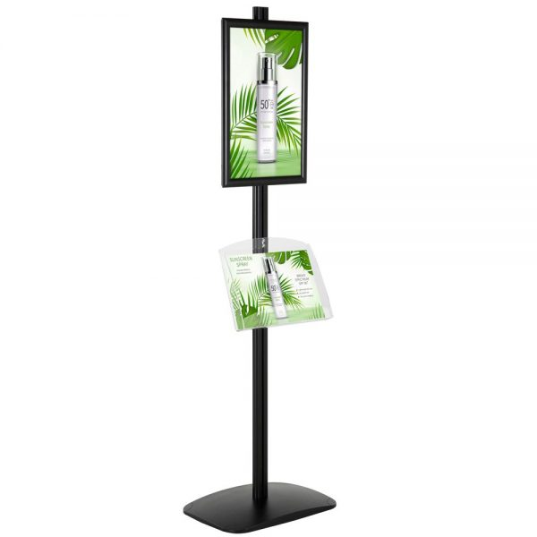 free-standing-stand-in-black-color-with-1-x-11X17-frame-in-portrait-and-landscape-and-1-2-x-8.5x11-clear-shelf-in-acrylic-single-sided-4