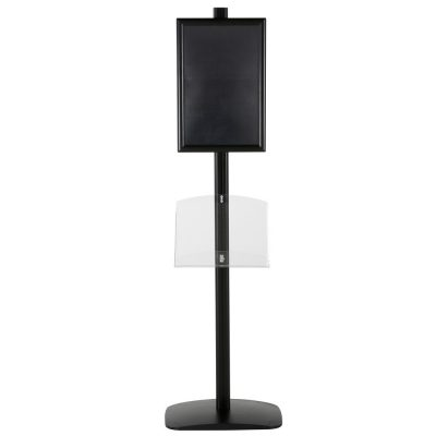 free-standing-stand-in-black-color-with-1-x-11X17-frame-in-portrait-and-landscape-and-1-2-x-8.5x11-clear-shelf-in-acrylic-single-sided-5