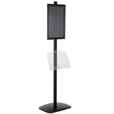free-standing-stand-in-black-color-with-1-x-11X17-frame-in-portrait-and-landscape-and-1-2-x-8.5x11-clear-shelf-in-acrylic-single-sided-6