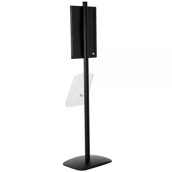 free-standing-stand-in-black-color-with-1-x-11X17-frame-in-portrait-and-landscape-and-1-x-8.5x11-clear-shelf-in-acrylic-single-sided-17