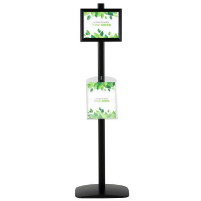 free-standing-stand-in-black-color-with-1-x-11X17-frame-in-portrait-and-landscape-and-1-x-8.5x11-clear-shelf-in-acrylic-single-sided-4