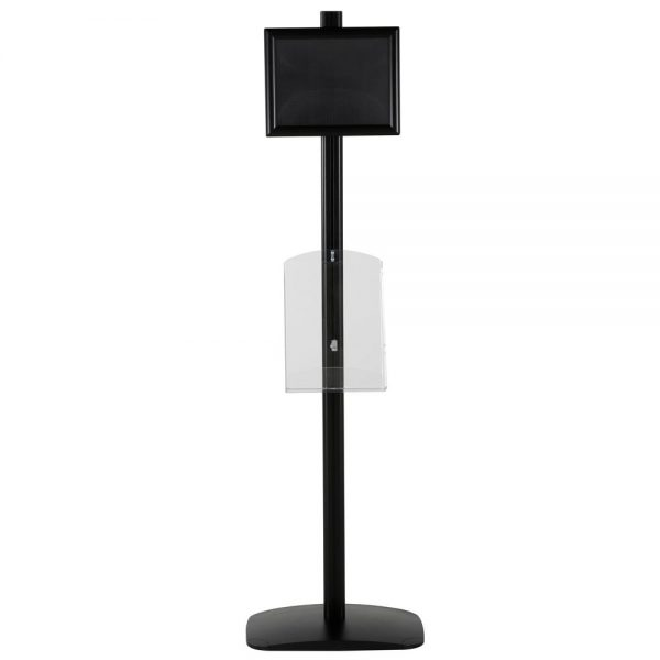 free-standing-stand-in-black-color-with-1-x-11X17-frame-in-portrait-and-landscape-and-1-x-8.5x11-clear-shelf-in-acrylic-single-sided-7