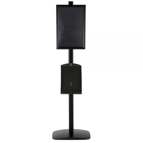 free-standing-stand-in-black-color-with-1-x-11X17-frame-in-portrait-and-landscape-and-1-x-8.5x11-steel-shelf-single-sided-11