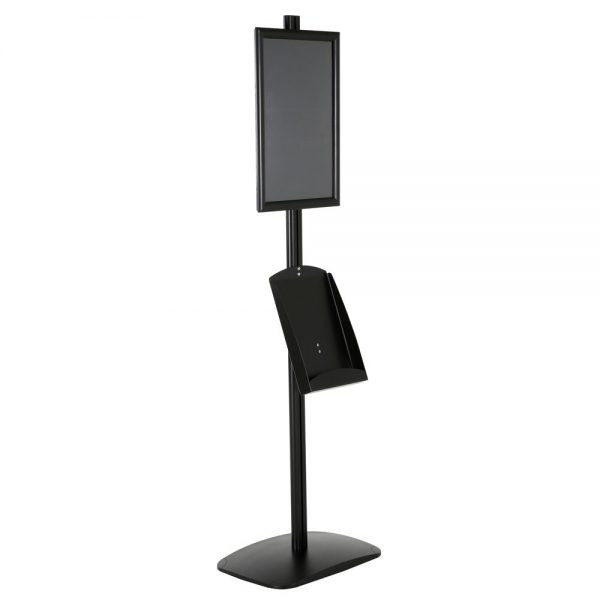 free-standing-stand-in-black-color-with-1-x-11X17-frame-in-portrait-and-landscape-and-1-x-8.5x11-steel-shelf-single-sided-12