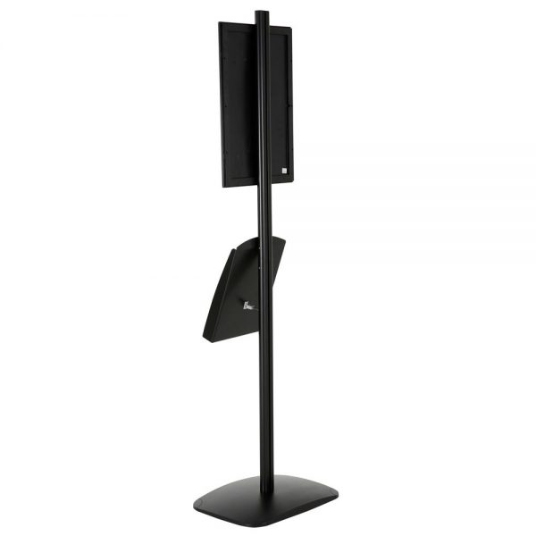 free-standing-stand-in-black-color-with-1-x-11X17-frame-in-portrait-and-landscape-and-1-x-8.5x11-steel-shelf-single-sided-13