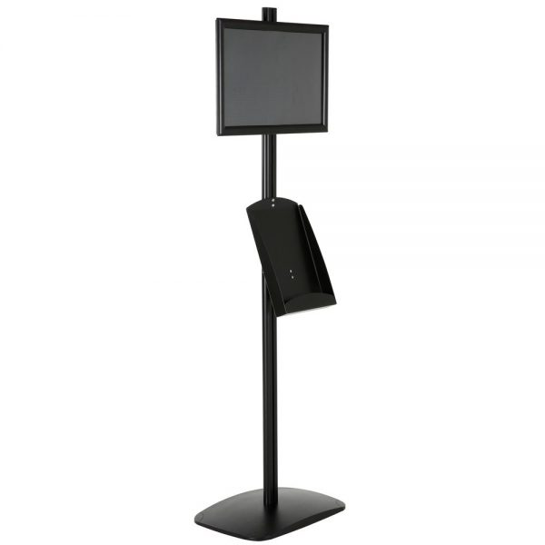 free-standing-stand-in-black-color-with-1-x-11X17-frame-in-portrait-and-landscape-and-1-x-8.5x11-steel-shelf-single-sided-6