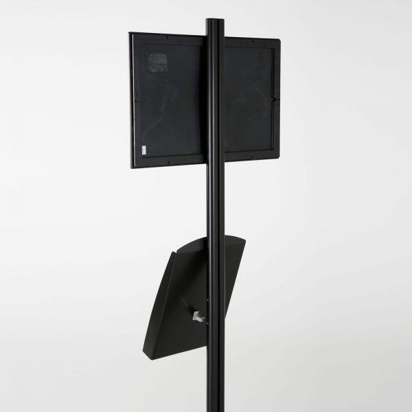 free-standing-stand-in-black-color-with-1-x-11X17-frame-in-portrait-and-landscape-and-1-x-8.5x11-steel-shelf-single-sided-8