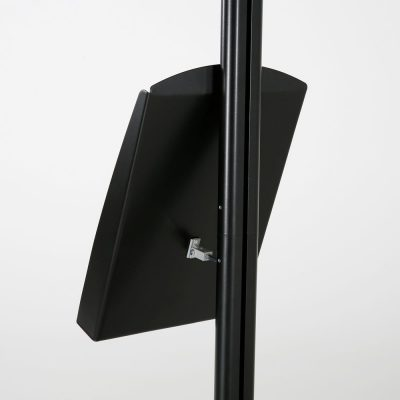 free-standing-stand-in-black-color-with-1-x-11X17-frame-in-portrait-and-landscape-and-1-x-8.5x11-steel-shelf-single-sided-9