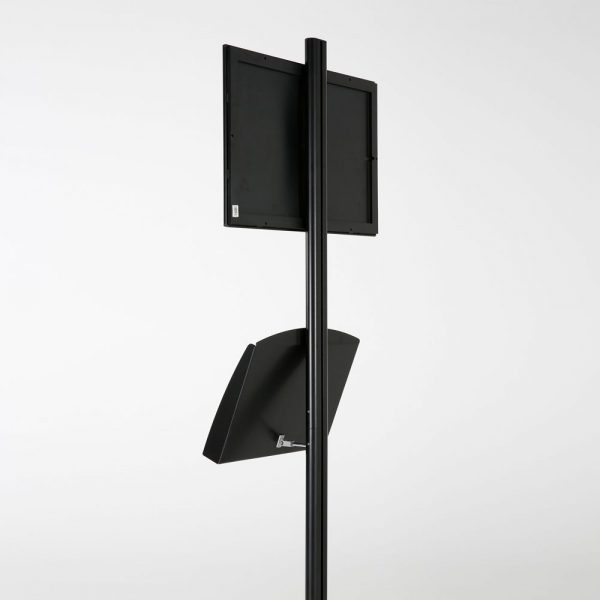free-standing-stand-in-black-color-with-1-x-11X17-frame-in-portrait-and-landscape-and-2-x-5.5x8.5-clear-pocket-shelf-single-sided-10