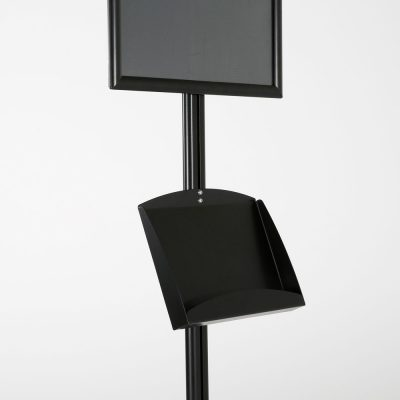 free-standing-stand-in-black-color-with-1-x-11X17-frame-in-portrait-and-landscape-and-2-x-5.5x8.5-clear-pocket-shelf-single-sided-8