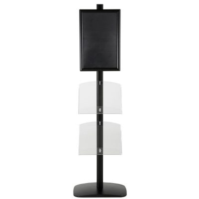 free-standing-stand-in-black-color-with-1-x-11X17-frame-in-portrait-and-landscape-and-2-x-8.5x11-clear-shelf-in-acrylic-single-sided-11