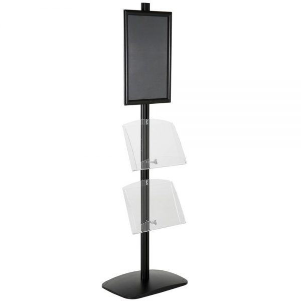 free-standing-stand-in-black-color-with-1-x-11X17-frame-in-portrait-and-landscape-and-2-x-8.5x11-clear-shelf-in-acrylic-single-sided-12