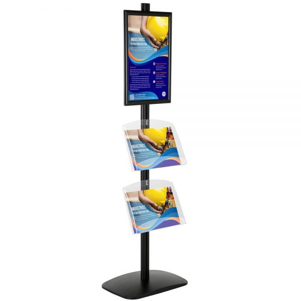 With 1 x (11X17) Frame In Portrait And Landscape And (2)  2 x (8.5x11) Clear Shelf In Acrylic